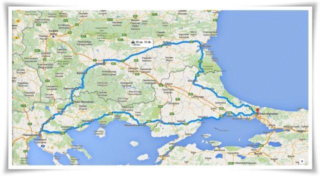 Rotamız: İstanbul-Alexandroupoli-Kavala-Selanik-Plovdiv-Burgaz-istanbul