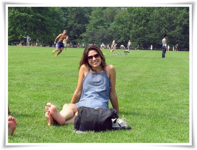 İlk Amerika, New York City seyahatimde. Central Park çimlerinde, Yıl 2004